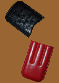 Accessories cigars online. Leather Cigar Case Black And Red
