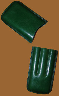 Accessories cigars online. Leather Cigar Case Green