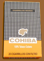 Cohiba cigars online. Cigarillos Negros Pack Of 20